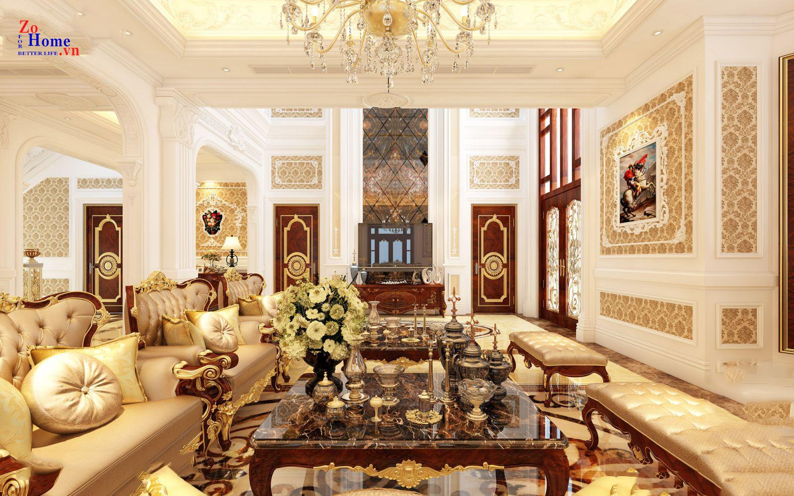 Xu hướng sử dụng màu sắc trong thiết kế nội thất cho lâu đài, biệt thự