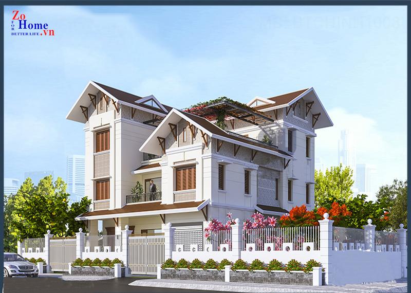 Dự án biệt thự mái thái 3 tầng tại Nam Định