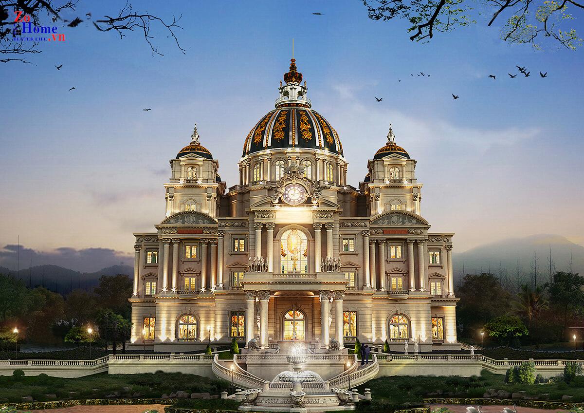 Thiết kế lâu đài sang trọng, đẳng cấp tại  Sóc Sơn Hà Nội